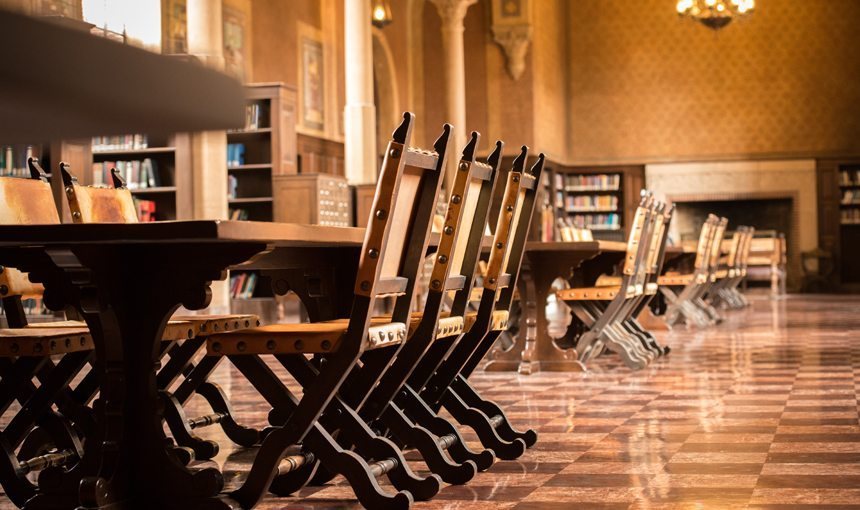 USC Mudd Hall Interior Library Chairs
