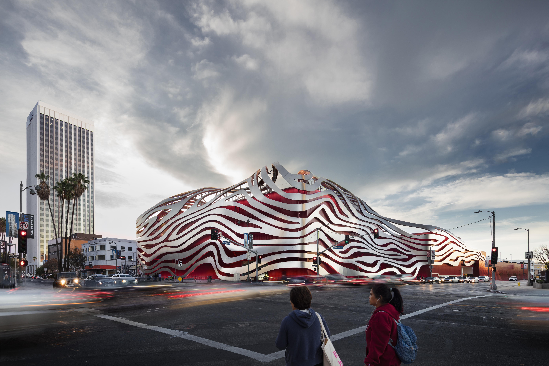 petersen automotive museum exterior matt construction